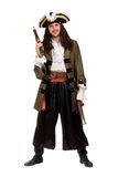 Man in a pirate costume with pistols Royalty Free Stock Photos