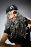Man in pirate costume  on white Stock Images