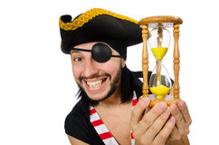 The man pirate isolated on the white background Stock Photography