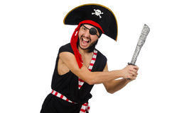 Man pirate isolated on the white background Royalty Free Stock Photography