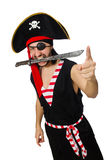 Man pirate isolated on the white background Royalty Free Stock Photo