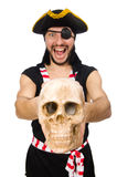 Man pirate isolated on the white background Stock Photography