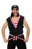 Man pirate isolated on the white background Stock Image