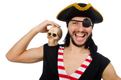Man pirate isolated on the white background Stock Photos