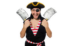 Man pirate isolated on the white background Royalty Free Stock Image