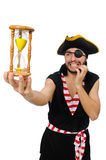 Man pirate isolated on the white background Stock Images
