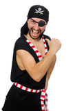 Man pirate isolated on the white background Royalty Free Stock Photos