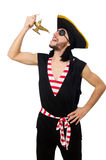 Man pirate isolated on the white background Stock Photo