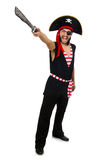 The man pirate isolated on the white background Stock Photos