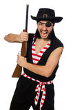 The man pirate isolated on the white background Stock Image
