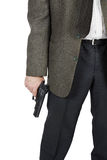 Man with a pistol in his hand Royalty Free Stock Images