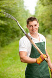 Man with pitchfork Royalty Free Stock Image