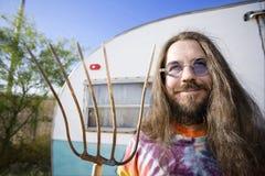 Man with a Pitchfork Stock Photos