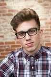 Man In Plaid Button-down Shirt royalty free stock photo
