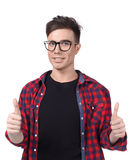 Man in a plaid shirt Royalty Free Stock Images