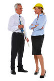 Man with plan and woman architect Royalty Free Stock Images