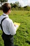 Man planing. Stock Photos