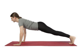 Man in plank pose stock image