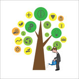 Man plant tree of ideas Stock Image