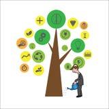 Man Plant Tree Of Ideas Stock Image