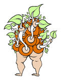 Man Plant Unity. Vector illustration of a part man part plant being. Unifies people and nature Royalty Free Stock Photo