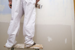 Man plastering Royalty Free Stock Photography