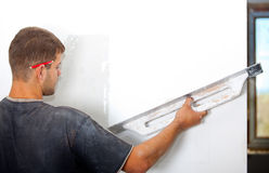 Man Plastering The Wal Stock Photography