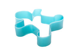Man plastic cookies cutter Stock Image