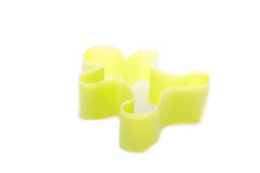 Man plastic cookies cutter. Isolated on white Stock Images