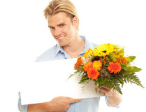 Man with plate Stock Photography
