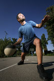 Man play basketball Stock Image