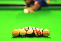 Man play Billiards Royalty Free Stock Photos