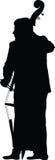 Man play contrabass vector Royalty Free Stock Image