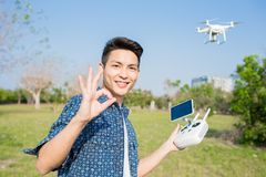 Man play drone Stock Photos