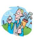 Man play golf Royalty Free Stock Photos