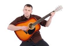 Man play guitar Stock Images