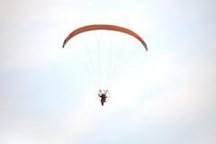 Man play para motors in the sky Royalty Free Stock Images