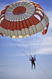 Man Play Parasailing Stock Photo