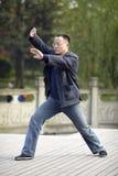 Man play taiji boxing Stock Images