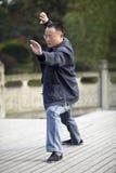Man play taiji boxing Stock Photos