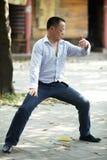 Man play taiji boxing Royalty Free Stock Photography
