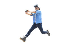 Man play vr eyeglasses,great for your design Royalty Free Stock Photo