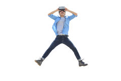 Man play vr eyeglasses,great for your design Royalty Free Stock Images