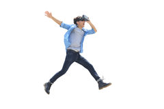 Man play vr eyeglasses,great for your design Stock Images