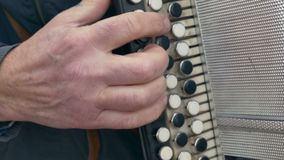 Man playing the accordion accordion arm stock video footage