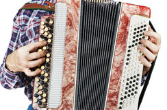 Man playing accordion Stock Photography