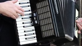Man Playing Accordion stock video footage