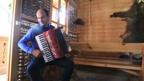 Man playing accordion stock footage