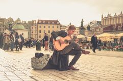 Man Playing Acoustic Guitar Royalty Free Stock Image