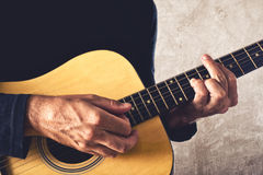 Man playing acoustic guitar Royalty Free Stock Photo